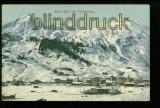 DAVOS farb-AK Dorf mit Schlahörner ungebraucht (a2071)