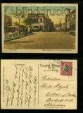 Chile farb-AK VAPARAISO Plaza Victoria y Calle Independencia 1920 (a2100)