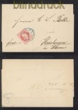 Hannover Mi # 14 EF aus BREMEN nach Heeslingen 1860 (42728)