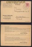 SBZ MI # 192 EF auf Auslands-Postkarte CRIMMITSCHAU 1949 (42736)