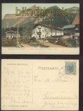 ACHENSEE farb-AK Gasthaus zum Neuwirth mit dem Dalsazerjoch 1906 (a2126)