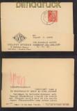SBZ MI # 222 EF auf Auslands-Postkarte WEIDA 1952 (42754)