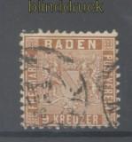 Baden Mi #  15 gestempelt 9 Kreuzer braun (42885)