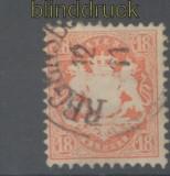 Bayern Mi #  36 gestempelt 18 Kreuzer zinnoberrot (42889)