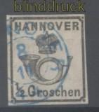 Hannover Mi # 17 y gestempelt 1/2 Groschen (42906)
