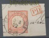 dt. Reich Mi #   3 gestempelt auf Briefstück (42910)