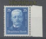 dt. Reich Mi # 405 Geburtstag Hindenburg 25 Pfg. postfrisch (42912)