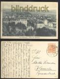 BAD WILDUNGEN sw-AK Blick vom Waldhaus 1918 (d0177)