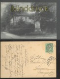 ACHIM sw-AK Denkmal mit Haus 1926 (d0180)