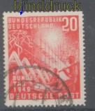 Bund Mi #  112 IV 20 Pfg. Bundestag gestempelt (43291)