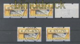 Bund ATM 2002 Mi # 5.1 Versandstellensatz 11 gestempelt (43303)