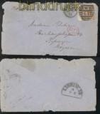 Großbritannien Mi # 38 BR Platte 11 EF London 1872 nach Kissingen (43313)