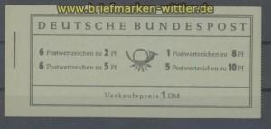 Bund Markenheftchen Mi # 3 postfrisch (36088)