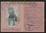 dt. Reich Mi # 796 auf Postausweiskarte BERLIN-LICHTENBERG 1943 (42860)