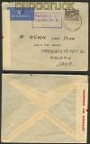 Australien Ausland-Luftpost-Zensur-Brief Brisbane nach Malang / Java 1940 (21294)