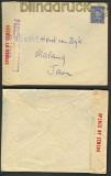 Australien Ausland-Zensur-Brief nach Malang / Java ca. 1940 (21295)