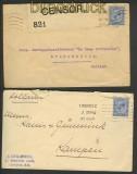 Großbritannien 5 Auslands-Zensurbrief 1915 nach Holland (21301)