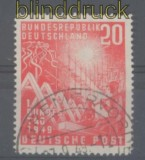 Bund Mi #  112 f 11 B Bundestag gestempelt (43566)