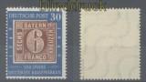 Bund Mi #  115 VI postfrisch geprüft Schlegel BPP (43573)