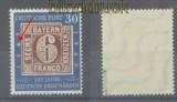 Bund Mi #  115 f 48 B postfrisch geprüft Schlegel BPP (43575)