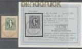 Bi-Zone AM-Post Mi #  35 B gestempelt auf Briefstück Fotobefund Hettler BPP (43587)