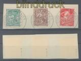 SBZ Mi #  23/25 a gestempelt auf Briefstück geprüft Kramp BPP (43593)