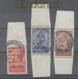 dt. Reich Mi # 509, 510 und 511 Einzelmarken aus Nothilfe-Block gestempelt Fotoattest Schlegel BPP (
