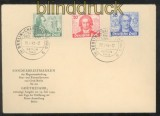 Berlin Mi #  61/63 Goethe-Satz Ersttagsbrief FDC (43638)
