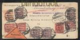 dt. Reich Dienst Mi # 20, 21 (4), 24 (2), 28 und 66 Dienst-Nachnahmebrief SCHENEFELD 1922 (43675)