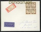 Bund Mi #  359 y 4er-Block Auslands-LuPo-R-Brief 1962 (43503)