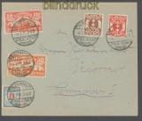 Danzig Mi # 111, 127, 134, 135 und 140 auf Fernbrief Tiegenhof 1923 (43732)
