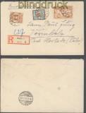 Danzig Mi # 118, 126 und 127 auf R-Brief Danzig 1923 (43733)