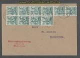 Bi-Zone Mi # 949 ZF Zehnfachfrankatur Ortsbrief Westerstede 22.06.1948 (43494)