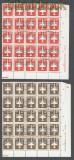 DDR Flugpostmarken (IV) im Kleinformat 25er-Block mit DV Gefälligkeitsstempel (43498)