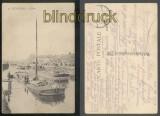 DIXMUDE sw-AK Le Quai Feldpost 1917 (a2128)
