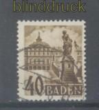 franz. Zone Baden Mi # 35 gestempelt (43827)