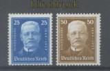 dt. Reich Mi # 405 und 406 Geburtstag Hindenburg postfrisch (43825)