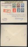 Lothringen in MiF mit Elsaß und Reich NN-R-Brief Saarburg 1941 (43997)