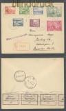 Lettland Mi # 264/70 Satz-R-Brief Riga 25.11.1938 Devisenkontrolle (44013)