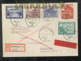dt. Reich Mi # 704, 713, 715, 736 y und 737 Eil-R-Brief R-Brief Weißenfels Feldpoststempel (44069)