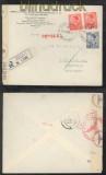 Jugoslawien Mi # 396 (2) und 402 MiF Auslands-Zensur-R-Brief Belgrad 16.2.1941 nach Berlin (44130)
