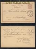 dt. Reich GSK P 1 mit Hufeisenstempel Osnabrück 30-1 (44182)