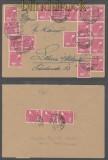 all. Besetzung Mi # 954 (20) ZF Zehnfachfrankatur Doppel-Fernbrief Lohne 23.6.1948 (44187)
