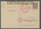 all. Besetzung Gebühr bezahlt Spremberg 30.5.1946 Postkarte (44193)