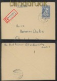 franz. Zone Mi # 12 EF R-Brief Betzdorf 2.5.1946 (44204)