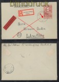 franz. Zone Mi # 12 EF Eil-R-Brief Betzdorf 11.4.1946 (44205)