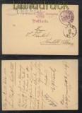 Württemberg GSK Tübingen 22.10.1883 mit ANGEKOMMEN Stempel  (44180)
