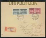 Böhmen und Mähren Mi #   7 (2) und # 10 (2) MiF R-Brief Prag 1939 (43181)