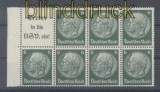 dt. Reich Heftchenblatt Mi # 96 B Hindenburg 1939 postfrisch (44393)