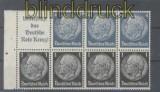 dt. Reich Heftchenblatt Mi # 98 B Hindenburg 1939 postfrisch (44394)